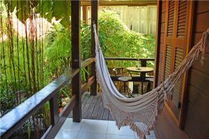 A balcony or terrace at Pousada Riacho Dos Cambucas