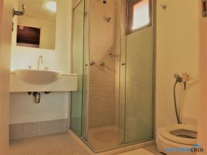A bathroom at Casa de praia em Costa do Sauípe