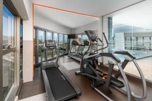 The fitness centre and/or fitness facilities at Intercity Portofino Florianópolis