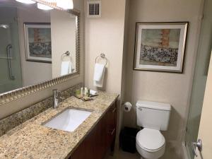 A bathroom at Hilton New York JFK Airport Hotel