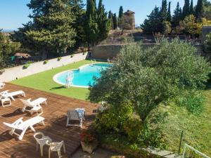 A view of the pool at Holiday Home in Montbrun-des-Corbieres with Pool or nearby