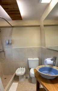 A bathroom at Del Glaciar Libertador Hotel