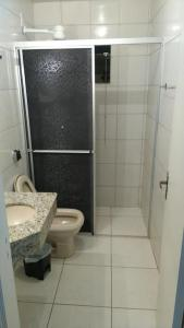 A bathroom at Hotel Amazonas