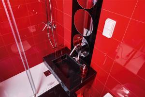 A bathroom at Hotel Freedom