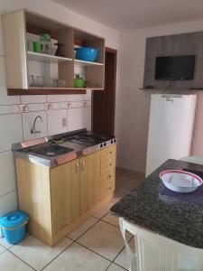 A cozinha ou cozinha compacta de Pousada Mirante Dos Barcos