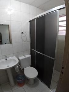 A bathroom at Hotel Pousada Sinos