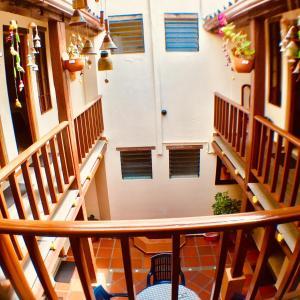 Un balcón o terraza de Hostal La Candelaria