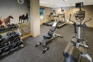 The fitness center and/or fitness facilities at SpringHill Suites Fort Worth University