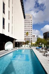 The swimming pool at or near Aloft Orlando Downtown