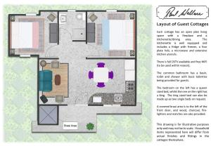 The floor plan of Paul Wallace Wines & Cottages