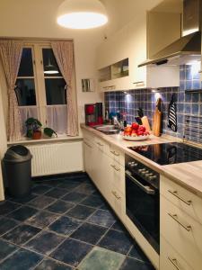Küche/Küchenzeile in der Unterkunft Ferienhaus am Glückstädter Hafen