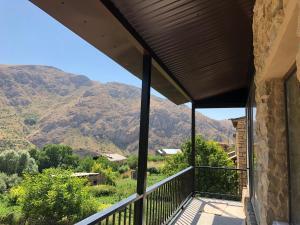 A balcony or terrace at Gnishik Eco Lodge