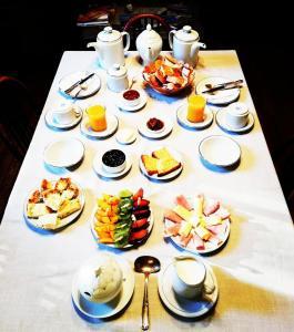 Opciones de desayuno para los huéspedes de La Casona del Rio