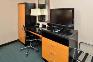 A television and/or entertainment center at Holiday Inn Express Kennedy Airport