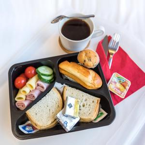 Breakfast options available to guests at AirPark Balice