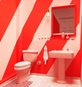 Een badkamer bij BOOKING.COM CANDY CANE HOUSE