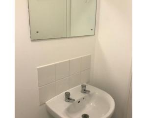 A bathroom at The Jovial Monk