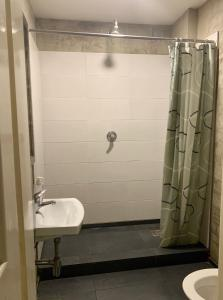 A bathroom at Hostel Fontána