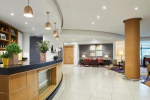 The lobby or reception area at London Marriott Hotel Twickenham