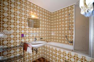 Salle de bains dans l'établissement Gästehaus Riml