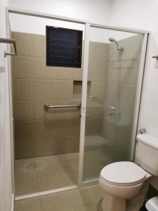 A bathroom at The Resthouse Laiya