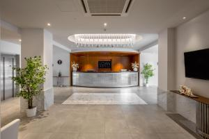 The lobby or reception area at Hotel American Palace Eur
