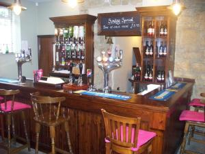 The lounge or bar area at Anglers Arms