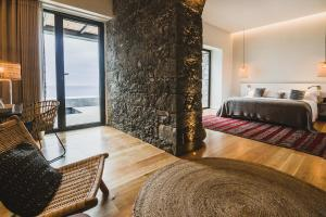 Uma área de estar em SENSI Azores Nature and SPA