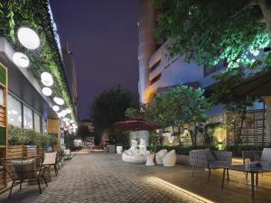 Ein Restaurant oder anderes Speiselokal in der Unterkunft Campanile Shanghai Jing An