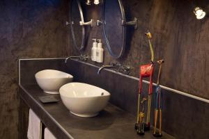 A bathroom at Okonjima Plains Camp