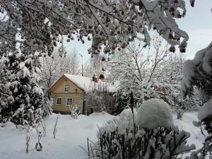 Villa u Vody during the winter