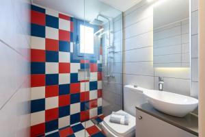 Ένα μπάνιο στο Kleanthi Apartments