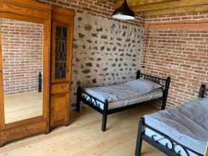 Cama ou camas em um quarto em Hope Lake