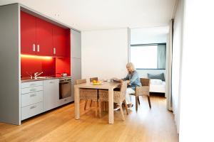 Küche/Küchenzeile in der Unterkunft Senevita Residenz & Apartments Muri bei Bern