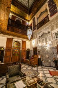 Coin salon dans l'établissement Dar Borj
