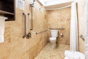 A bathroom at La Quinta by Wyndham Seattle Downtown