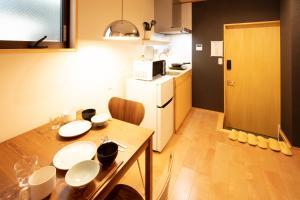 Kamon Inn Toji Michi カモンイン 東寺道にあるキッチンまたは簡易キッチン