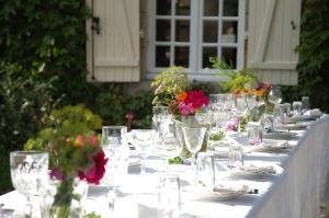 Banquet facilities at the gite