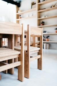 A bunk bed or bunk beds in a room at Casa Pancha