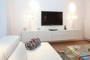 Een TV en/of entertainmentcenter bij Luxury Suite Koksijde 102 Adult only!