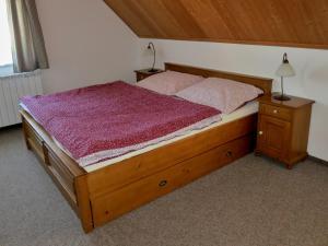 Postel nebo postele na pokoji v ubytování Selský dvůr 2