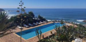 Vista de la piscina de Kasbah Tabelkoukt o alrededores