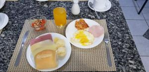 Breakfast options available to guests at Vila Azul Praia Hotel