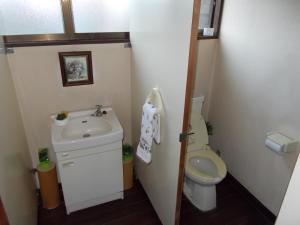 A bathroom at Lodge Stack Point