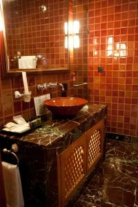 A bathroom at Hotel Druk