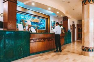 The lobby or reception area at Marina Palace