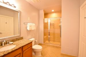 A bathroom at Reunion by 1791 Vacation Experience