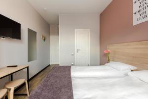 Cama o camas de una habitación en Nomera na Goncharnoy