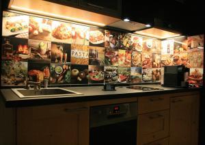 Een keuken of kitchenette bij B&B Tuscany Gallery