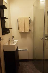 A bathroom at Augustas Bed & Breakfast